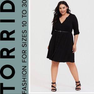 Torrid Black Jersey Shirt Dress, Size 2, 2x